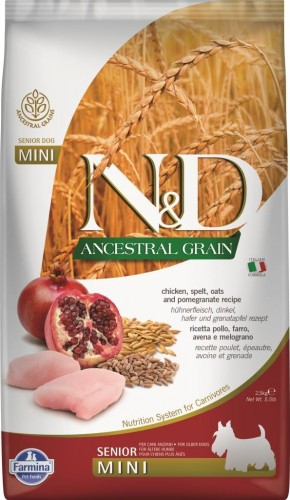 N&D Ancestral Dog Chicken & Pomegranate Senior Mini